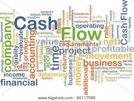 Background concept wordcloud illustration of cash flow