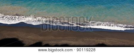 Shadows On Black Sand Beacg