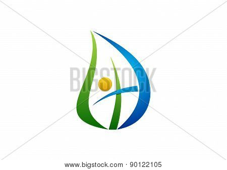 people,leaf,logo,religious,life,cross symbol,nature,botany,bio,ecology