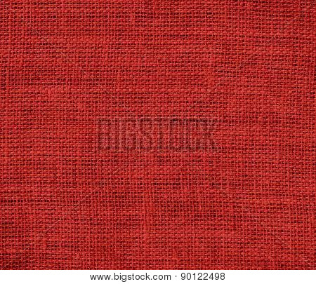 Carnelian color burlap texture background