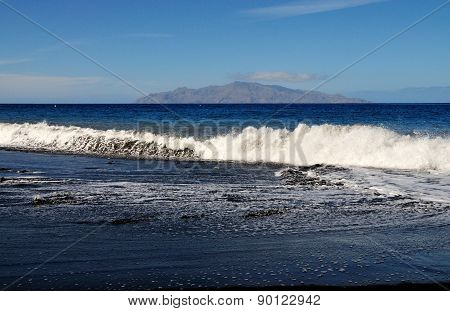 Tidal Waves On A Beach