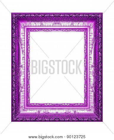 Antique Violet Frame On The White Background
