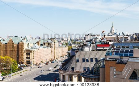 Above View Of Lubyanskaya Square In Moscow