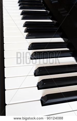 Side View Keyboard Of Digital Piano