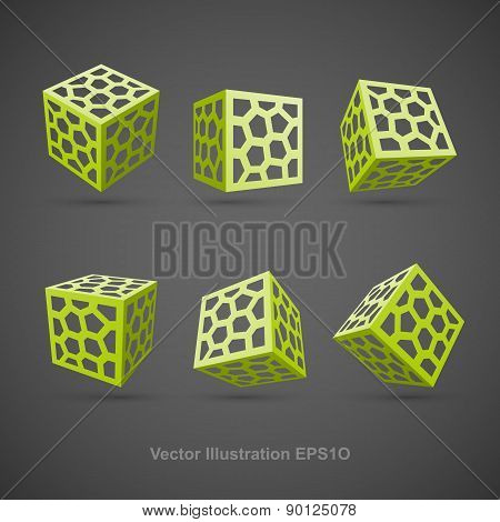 Set of abstract vector cubes