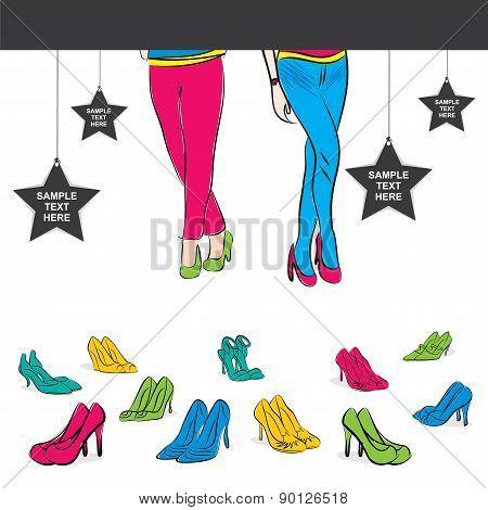 footwear poster design