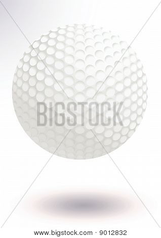 Golf ball vector illustration.
