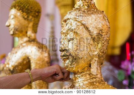 Gilded Statue Of Buddha