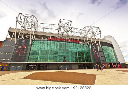 Manchester United sadium in Old Trafford.