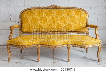 Vintage luxury yellow sofa