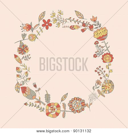 Flower Pattern Hand-drawn Cute Doodle