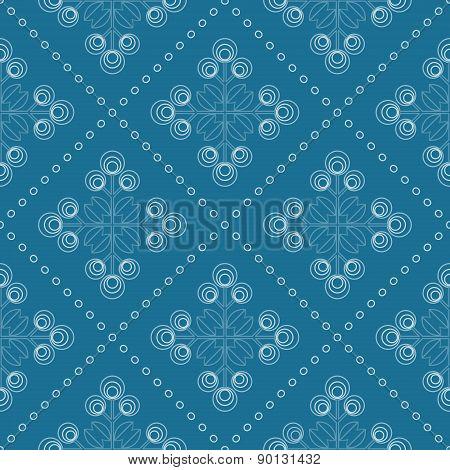 Seamless Floral Pattern, Geometric Flowers