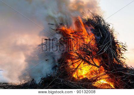 Smoking Bonfire