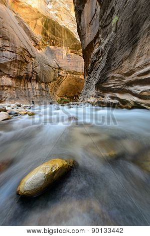 The narrow in Zion National park, USA