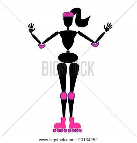 Woman doing skating