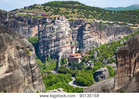 Meteora Monasteries On The High Cliffs, Greece