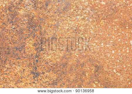 Close Up Of Rust On Metal. Grungy Background