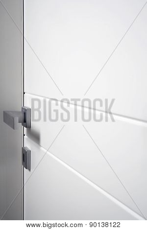 Particular White Closed Door