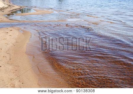 Wave on the rugged Beach in Georgian Bay,Canada