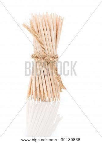 Bunch Of Brown Toothpicks