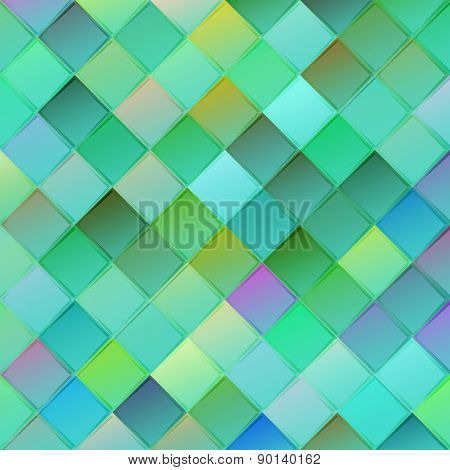 Colorful Geometric Background With Rhombus On Blurred Gradient Background For Web Design
