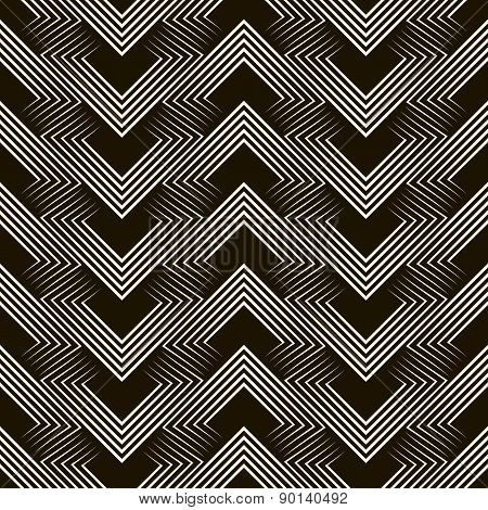 Seamless Geometric Pattern Ornament Stylish Background. Vector Repeating Texture.