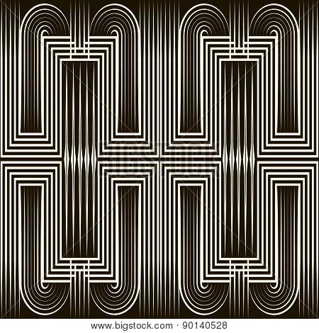 Seamless Art Deco Pattern Ornament. Geometric Stylish Background. Vector Texture.