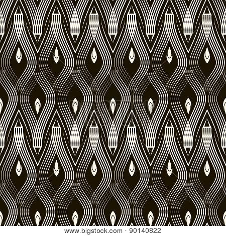 Seamless Antique Pattern Ornament. Geometric Stylish Background. Vector Repeating Texture.