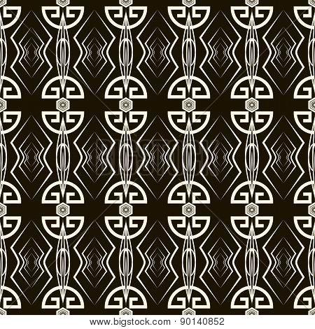 Seamless Antique Pattern Ornament. Geometric Art Deco Stylish Background. Vector Texture
