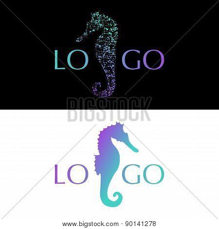 Seahorse Logo, Symbol, Icon, Vector