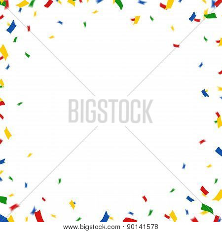 greeting card with confetti
