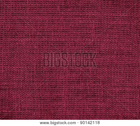 Claret color burlap texture background