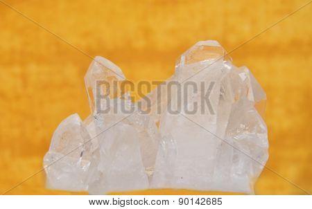 Rock Crystal On Yellow