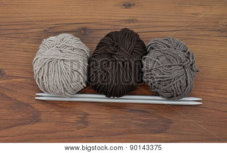 Ball Of Wool With Knitting Needles