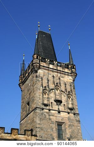 Mala Strana Bridge Tower In Prague