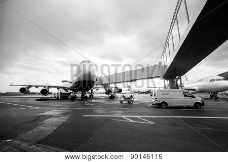 MOSCOW, RUSSIA - SEP 26, 2013: British Airways jet aircraft in Domodedovo airport of Moscow on September 26, 2013. British Airways is the flag carrier airline of the United Kingdom