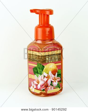 Bottle Of Wild Mango Foaming Hand Soap