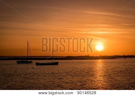 Boats During Sunset