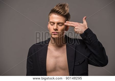 Fashion Portrait Of Man