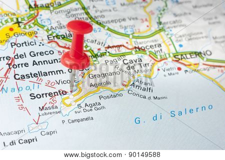 Sorrento On The Map