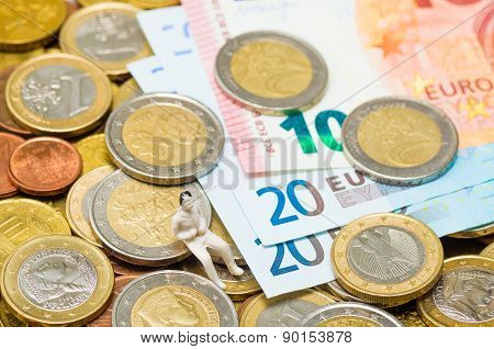Euro coins and Euro banknotes