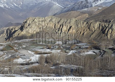 Landscape Of Muktinath Village In Lower Mustang District, Nepal