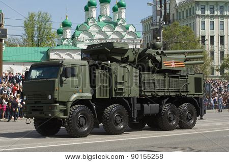 Pantsir-S1 is a surface-to-air missile and anti-aircraft weapon. Victory Day Parade to commemorate t