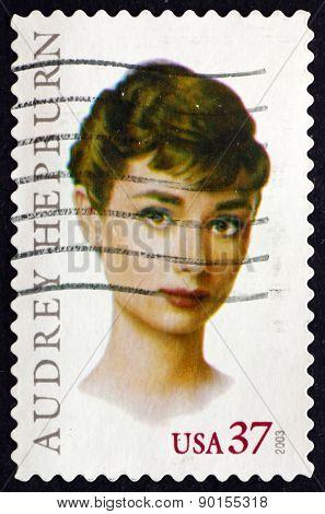 Postage Stamp Usa 2003 Audrey Hepburn, British Actress