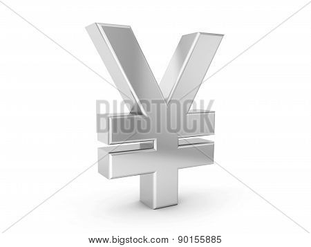 Silver Yen Symbol