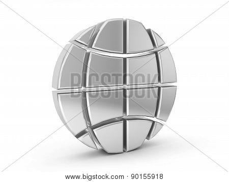 Silver Globe Symbol