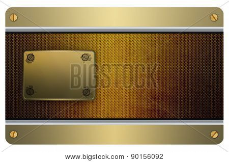 Credit Card Template. Abstract Old Metal Background.