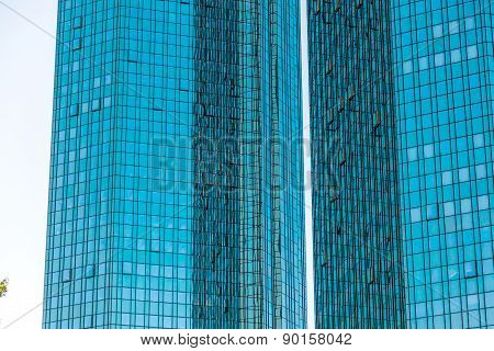 Facade Of  High Twin Towers Deutsche Bank I And Ii