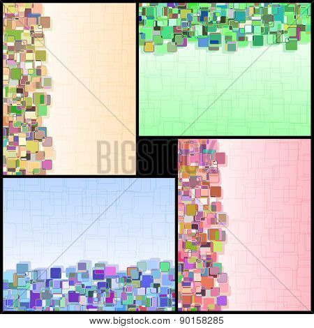 Rectangle Background Vertical Information Color Abstract Set