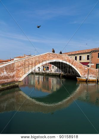 Old Bridge In Murano Italy